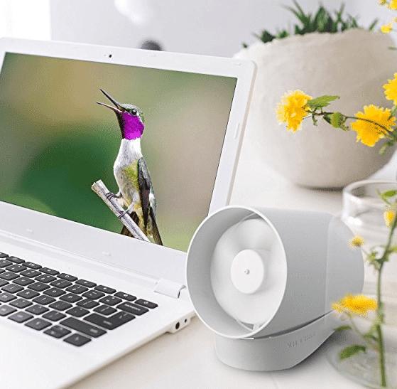 【一流デザイン、見た事のない美しさ】 Relohas USB扇風機 卓上ファン 二重羽根反転 静音 タッチスイッチ 風量2段階調節 パワフル送風 クリエイティブ付き ホワイト Relohas