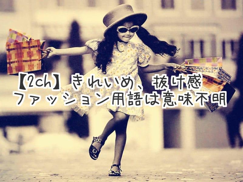 【2ch】きれいめ、抜け感、ファッション用語は意味不明