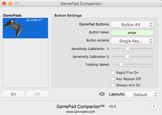 GamePad Companionの使い方②