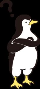 疑問を抱くペンギン
