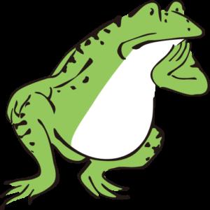 考えるカエル