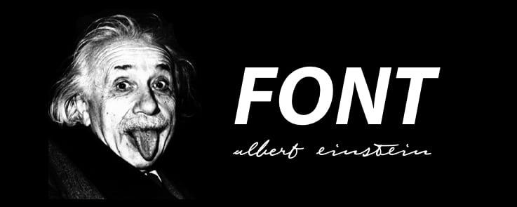 アインシュタインのフォント