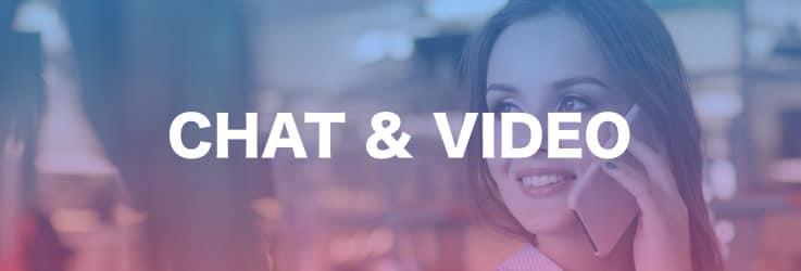 チャットとビデオサービス