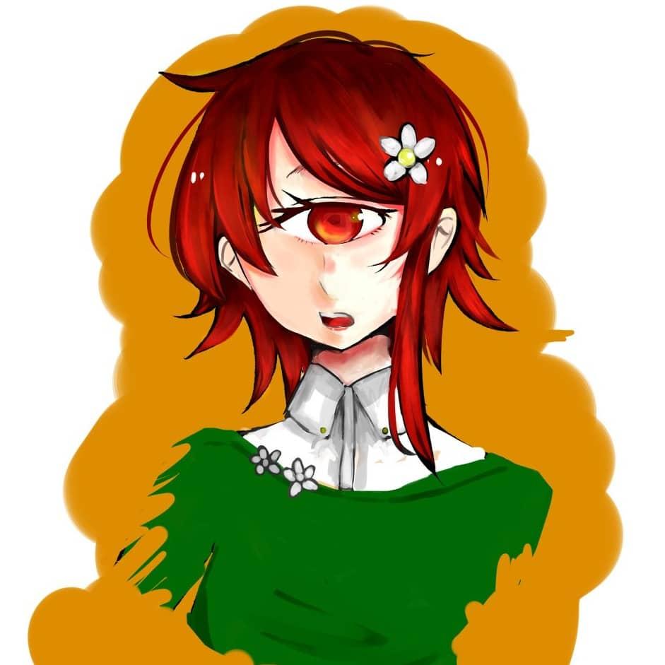 赤髪の 単眼娘