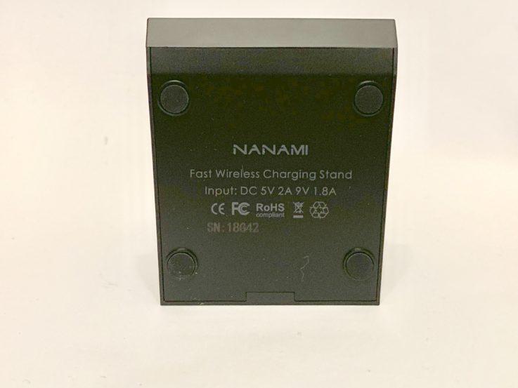 nanamiの充電器の下