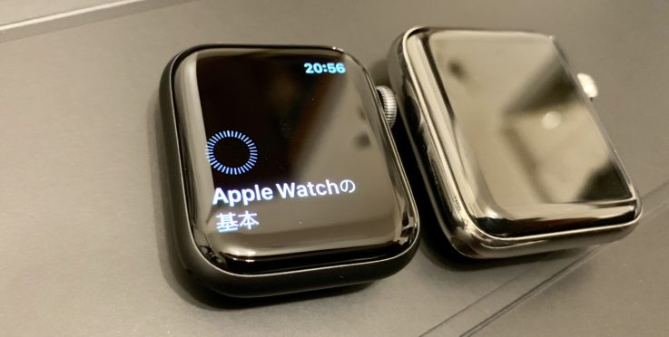 Apple Watch series4の基本設定中