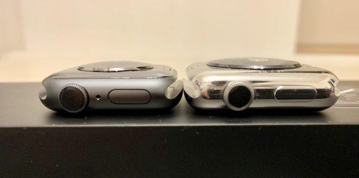 Apple Watch series4とseries2のデジタルクラウンの比較