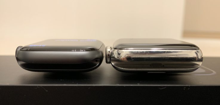 Apple Watch series4とseries2のジョイント部分の比較