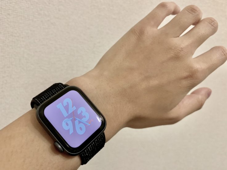 Apple Watch series4を腕につけた時