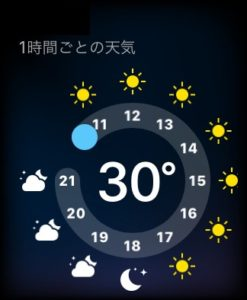 Apple Watchの天気アプリ