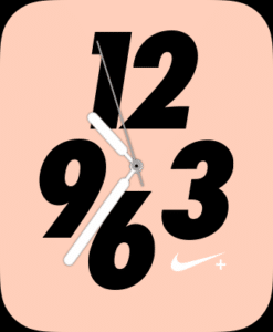 AppleWatchのnikeの文字盤