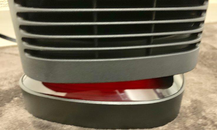 MIUOセラミック電気ファンヒーターの700w時の淡い赤いランプ