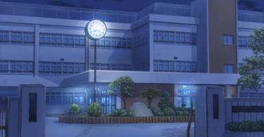 深夜の学校
