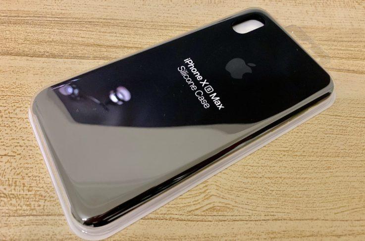 Apple純正シリコンケースiphoneXS MAX用 ブラックの外箱