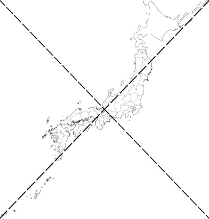 日本地図と関西の位置を示した図