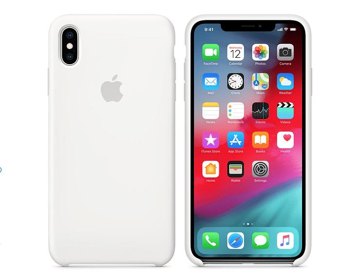 iPhone XS Maxシリコーンケース - ホワイト