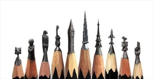 鉛筆の芯のアート