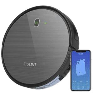 ZIGLINT D5 ロボット掃除機 自動充電 Alexa Googleホーム接続 予約清掃システム カーペット掃除 WiFi 対応