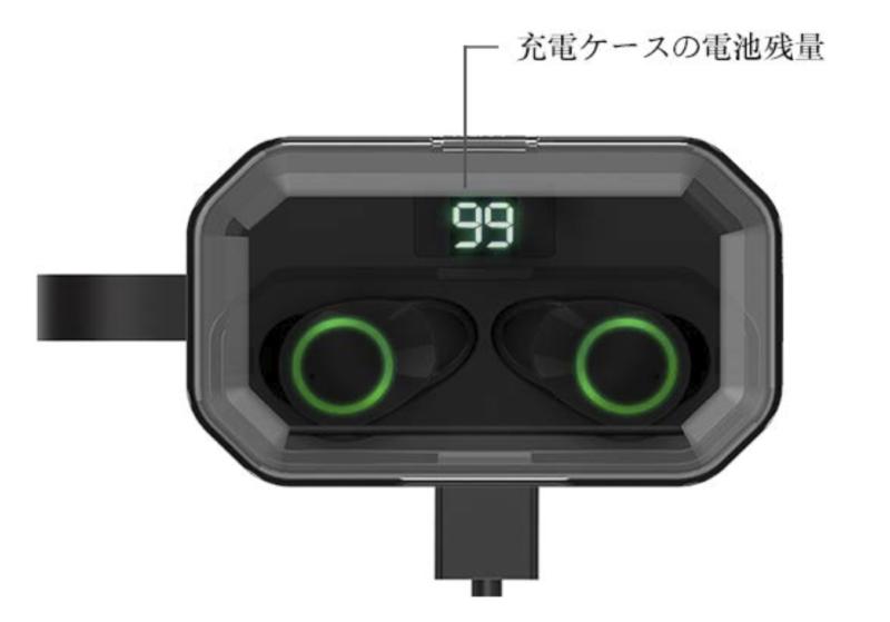 Keallce Bluetooth イヤホンケースのバッテリー