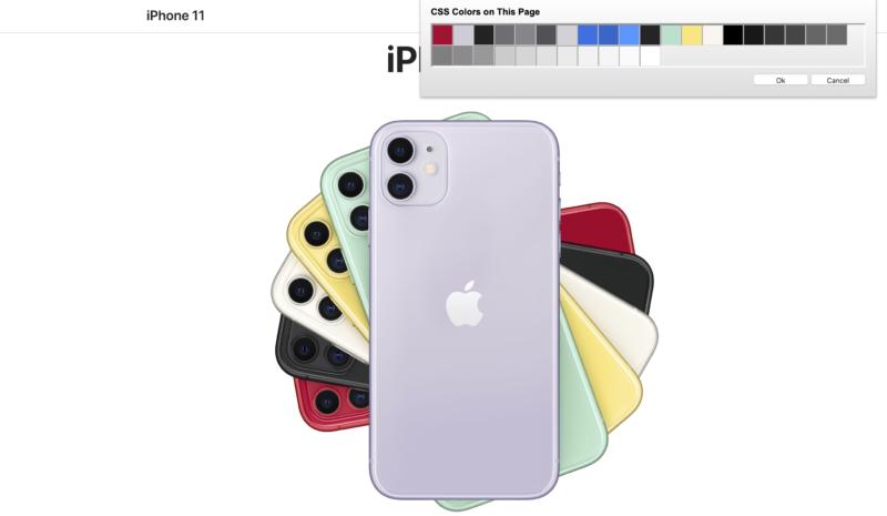 Appleのカラーを抽出
