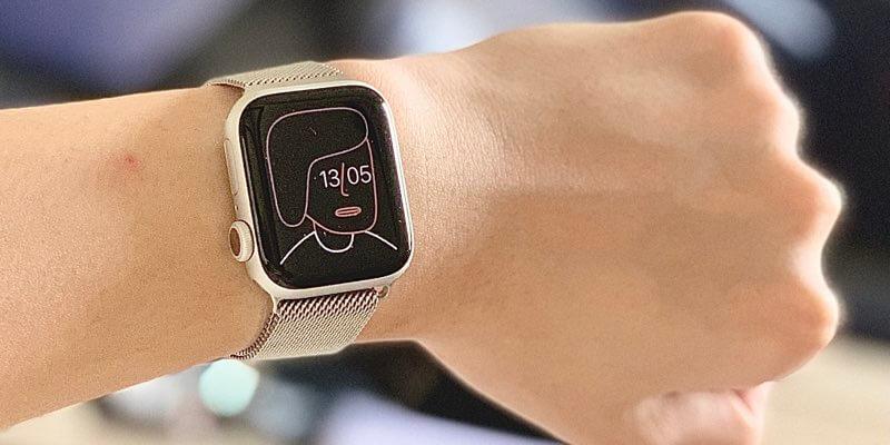 Apple Watch series6の付けた図