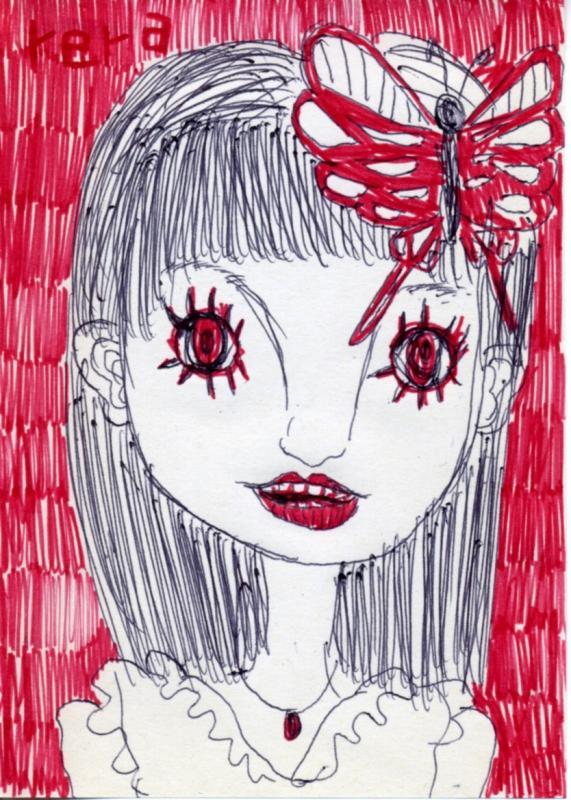 ポストに変な手紙が入ってたというスレの手紙に書かれた怖い女性の絵